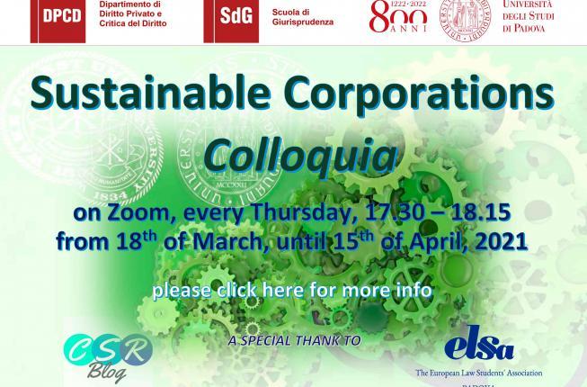 Collegamento a Sustainable Corporations Colloquia