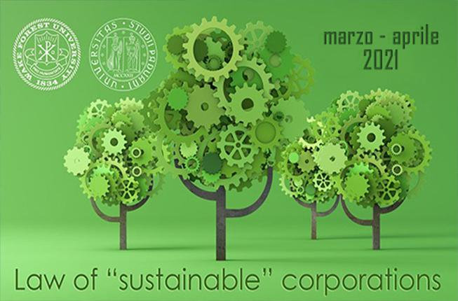 Collegamento a The Law of the «Sustainable» Corporations - 4 FEBBRAIO 2021 - Webinar introduttivo via Zoom